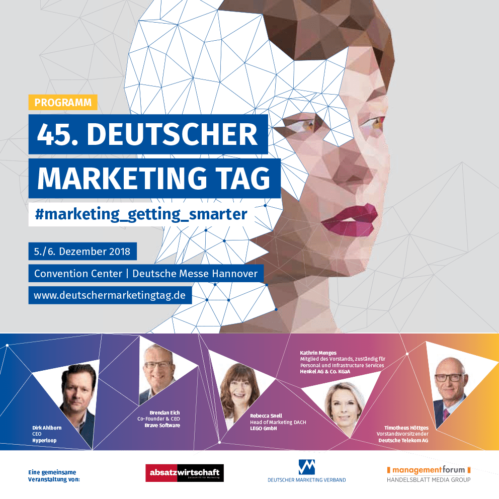 45. Deutscher Marketing Tag am 5. und 6. 12. 2018 in Hannover