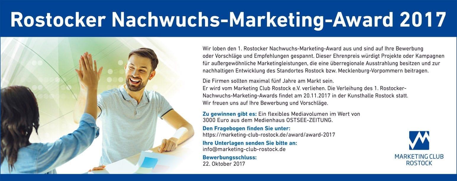 Bewerbungsstart für den 7. Rostocker Marketing-Award beginnt!